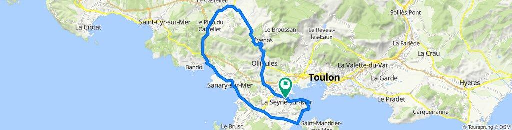 De Rue Ernest Reyer 4B, La Seyne-sur-Mer à Rue Ernest Reyer 4B, La Seyne-sur-Mer