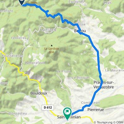 Route to Chemin des Aires 8, Saint-Chinian