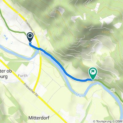 Unterer-Paiger-Weg, Pöls-Oberkurzheim to Unterer-Paiger-Weg 40, Pöls-Oberkurzheim