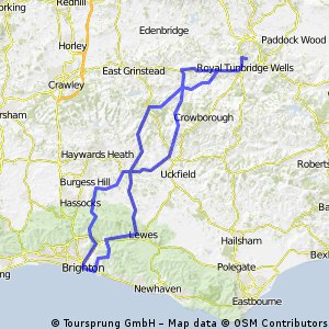 Robertsbrige Wheelers Tunbridge Wells to Brighton and back