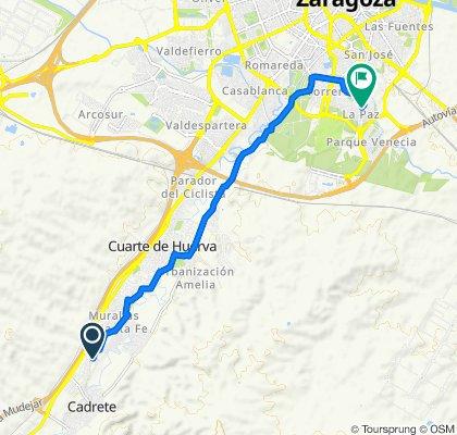 Ruta a Calle del Teniente Coronel León Moyano, 35, Zaragoza
