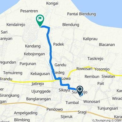 Area Sawah, Kecamatan Ulujami to Unnamed Road, Kecamatan Ulujami