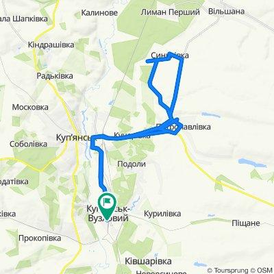 Маршрут в Unnamed Road, Куп'янськ-Вузловий