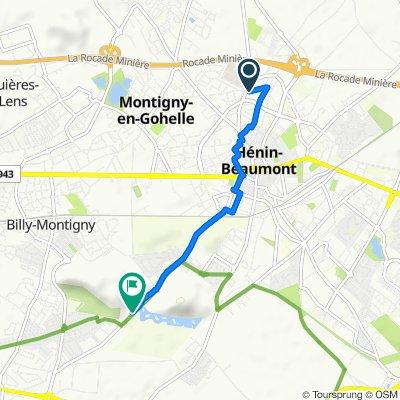 De 47 Rue Pierre Curie, Hénin-Beaumont à 1573 Boulevard des Frères Leterme, Hénin-Beaumont