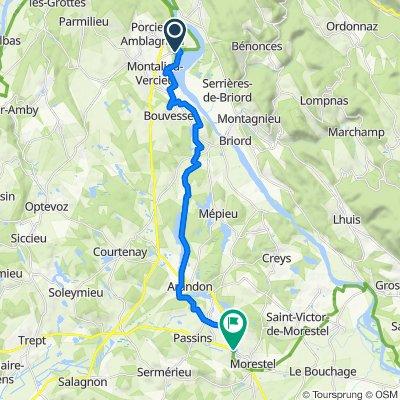 Steady ride in Morestel