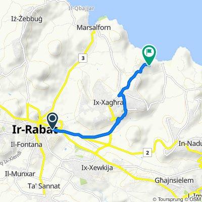 От Triq Fortunato Mizzi 2, Ir-Rabat Għawdex до Triq Kalipso 3, Ix-Xagħra