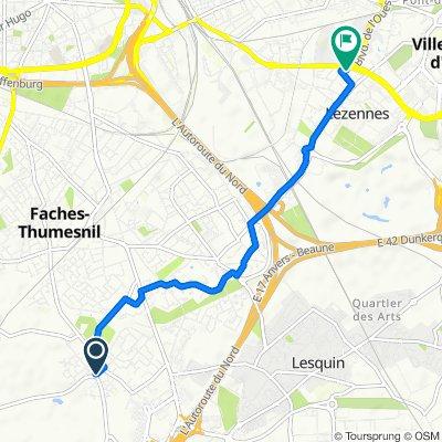 De 32 Rue Édouard Vaillant, Faches-Thumesnil à 74 Rue Pasteur, Lezennes