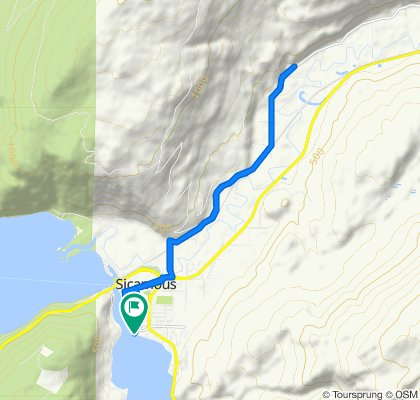 Steady ride in Sicamous