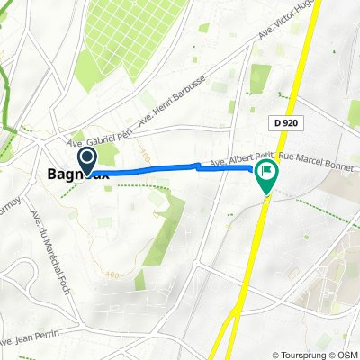 De 4 Avenue Albert Petit, Bagneux à 206 Avenue Aristide Briand, Bagneux