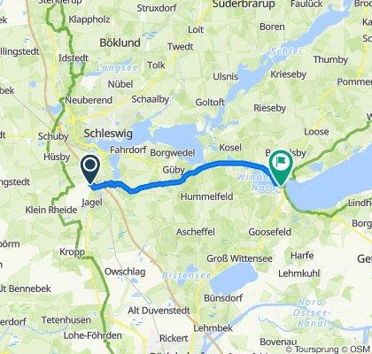 Route nach Schulweg 8–14, Eckernförde