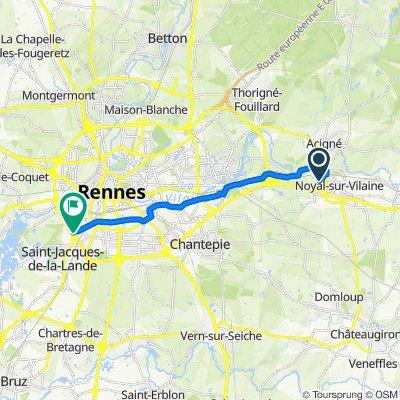 De 2 Rue Lancelot, Noyal-sur-Vilaine à 4 Rue Louis Braille, Saint-Jacques-de-la-Lande