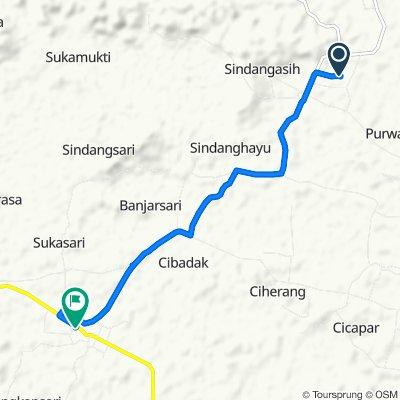 Unnamed Road, Purwadadi to Jalan Raya Banjarsari 139, Kacamatan Banjarsari