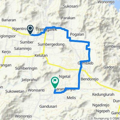 Jalan Nasional III, Karangan to Jalan Gandusari - kampak No.22