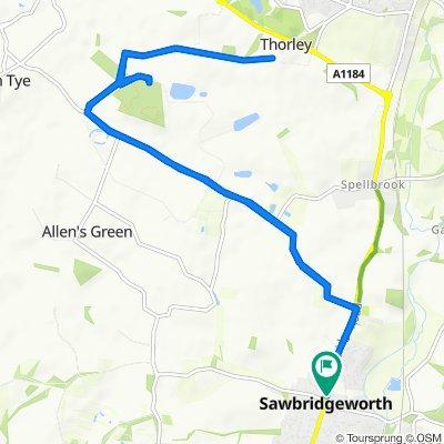7 Cambridge Road, Sawbridgeworth to 8B Cambridge Road, Sawbridgeworth