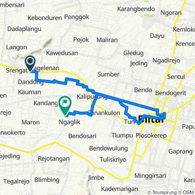 Jalan Raya Kediri - Blitar, Kecamatan Srengat to Ngalik, Kecamatan Srengat
