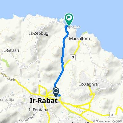 От Triq Karlu Galea 24, Ir-Rabat Għawdex до Żebbuġ
