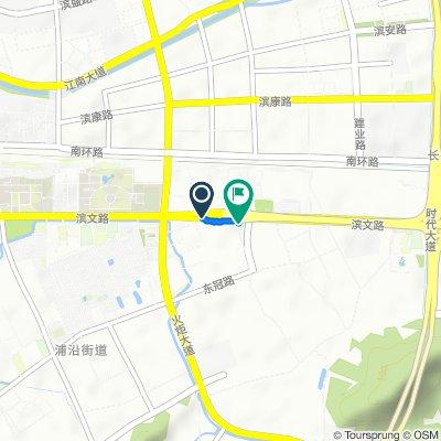 银洞桥东路, 杭州市 到 火炬大道与滨文路交汇处北, 杭州市