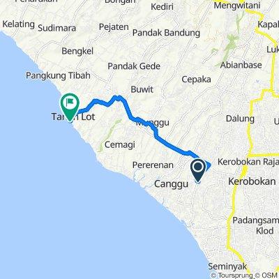 Gang Kresna 8, Kecamatan Kuta Utara to Unnamed Road, Kecamatan Kediri
