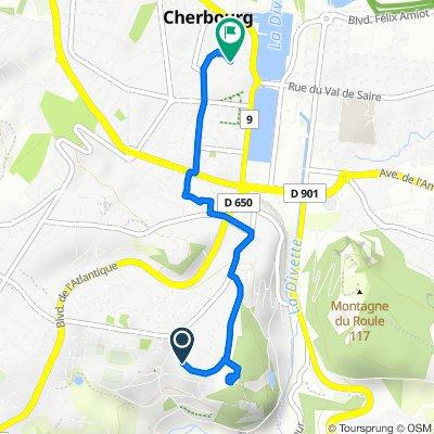 Rue de Franche Comté 5, Cherbourg-en-Cotentin to Rue Grande Rue 33, Cherbourg-Octeville