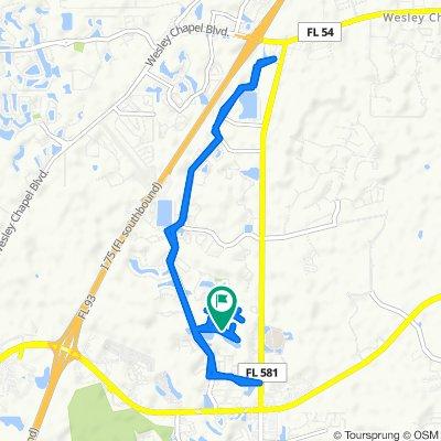 Restful route in Wesley Chapel