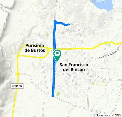De Calle Donaciano Ramírez 300, San Francisco del Rincón a Calle Donaciano Ramírez 300, San Francisco del Rincón