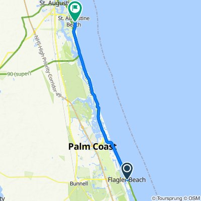 909 S Central Ave, Flagler Beach to 74–98 Ninth St, St. Augustine Beach