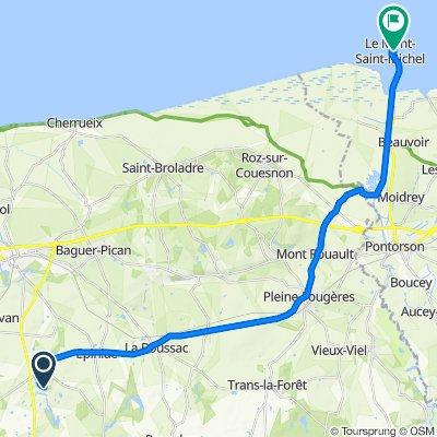 Route nach 3025 Grande Rue, Le Mont-Saint-Michel
