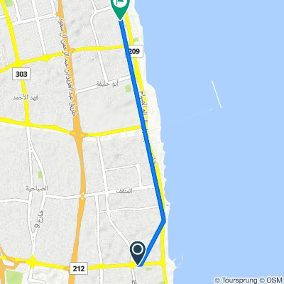 Kuwait to 304 Street, Kuwait
