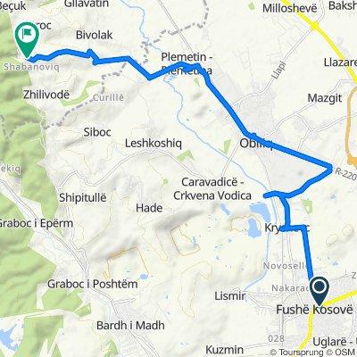 Çerdhja, Fushë Kosovë to Unnamed Road, Strofc