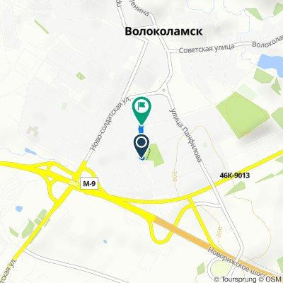 От улица Школьная 12 корпус 1, Волоколамск до улица Школьная 8, Волоколамск