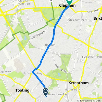 63 Chillerton Road, London to Clapham Common South Side, London