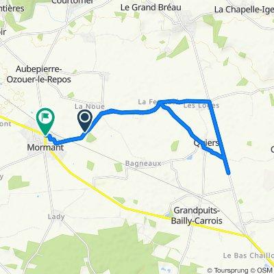 Itinéraire modéré en Mormant