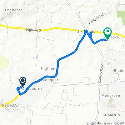 Highway 6 to 1st Avenue Train Line Trace 63, Six Cross Roads