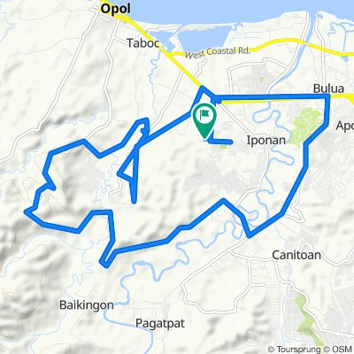 Relaxed route in Cagayan de Oro City