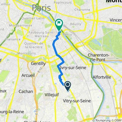 De 4 Rue des Noriets, Vitry-sur-Seine à 23bis Quai d'Austerlitz, Paris