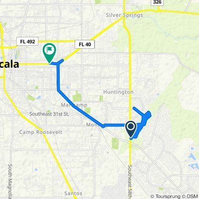 High-speed route in Ocala