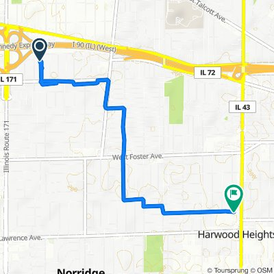 North Courtland Avenue 5656, Chicago to North Harlem Avenue 4850, Harwood Heights