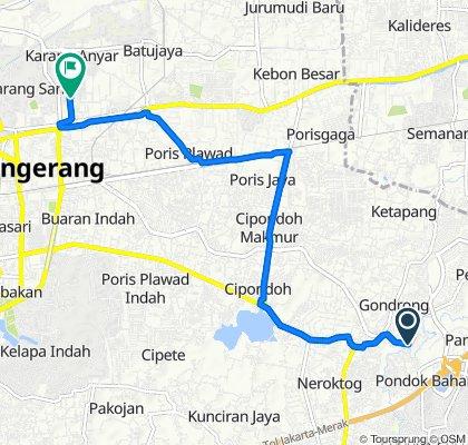 Jalan Haji Mansyur 24, Kecamatan Cipondoh to Jalan Nyimas Melati 46, Kecamatan Neglasari