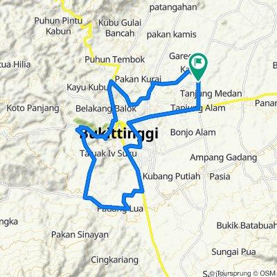 Unnamed Road, Kecamatan Ampek Angkek to Jalan Kapau 20, Kecamatan Ampek Angkek