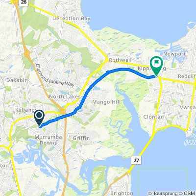 Gallipoli Way, Kallangur to 22 Lions Crescent, Kippa-Ring