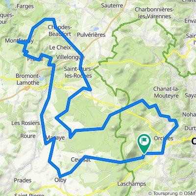 De Route du Puy de Dôme, Orcines à Route du Puy de Dôme, Orcines