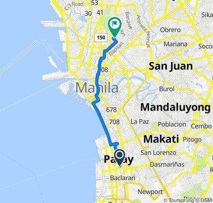 2814Q Violeta Court, Pasay City to 1571 Crisostomo Street, Manila