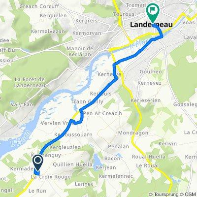 Zum Bahnhof Landerneau