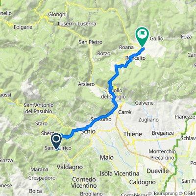Da Via Montagna Spaccata 41/A, San Quirico a Via Dante Alighieri 1, Asiago