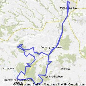 MB-Benátky-Houštecký MTB marathon(75km)-Benátky-MB