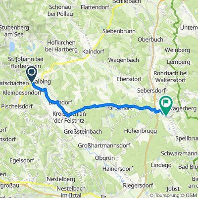 Langsame Fahrt in Bad Waltersdorf