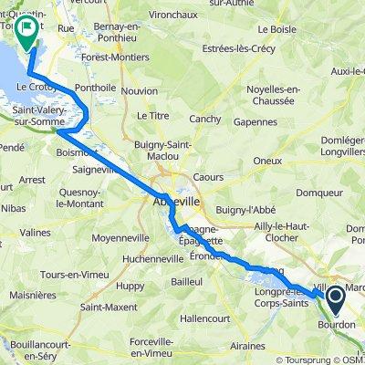 De 4B–10 Route de Flixecourt, Bourdon à 900 Rue de la Maye, Le Crotoy