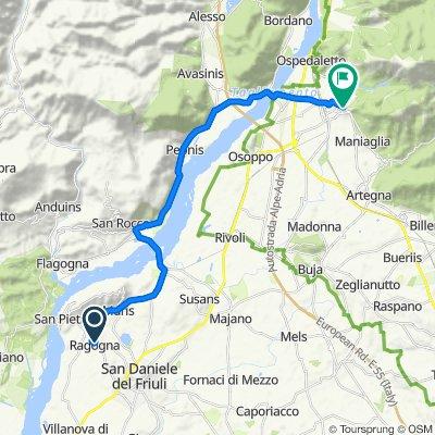 Da Via San Daniele 27, Ragogna a Vicolo degli Orefici 1, Gemona del Friuli