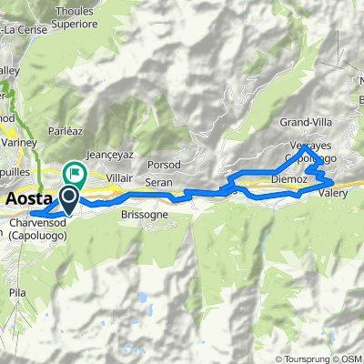 Da Località Chenières 34/B, Pollein a Autostrada Torino-Aosta, Pollein