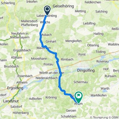 Bachstraße 12, Laberweinting nach Am Lerchenfeld 3, Aham